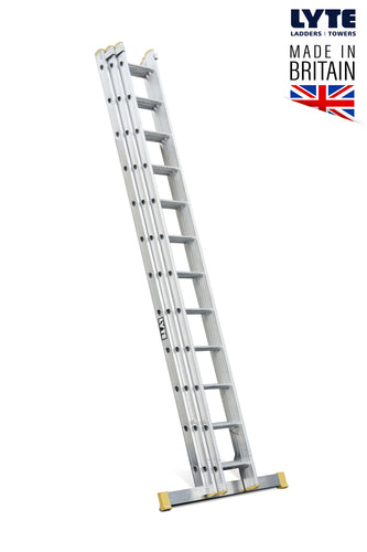 Lyte EN131-2 Professional Extension Ladder 14 Rung 3 Section (NELT340)