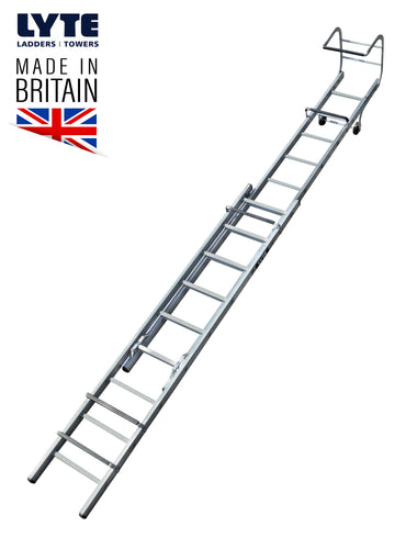 Lyte Trade Roof Ladder Double Section 4.64m (TRL230)