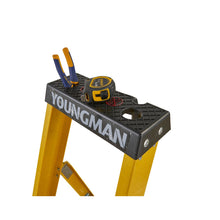 Load image into Gallery viewer, Youngman S400 Fibreglass Heavy Duty Platform Stepladder 8 Tread (52745818)