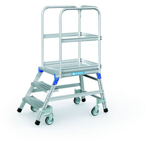 Zarges Mobile Access 3 Step Platform - 2.7m Working Height (41971)