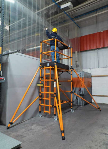 Lyte Hilyte GRP Lift Folding Tower - 2.1M Platform Height