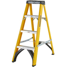 Load image into Gallery viewer, Youngman S400 Fibreglass Heavy Duty Trade Stepladder 4 Tread (52744418)