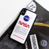 White NASA iPhone Case