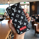 Black Supreme x Louis Vuitton iPhone Cases