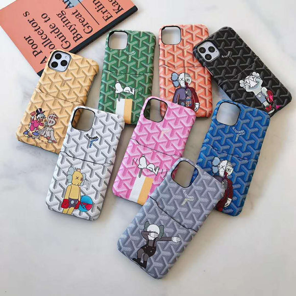 Goyard x Kaws Wallet Case for iPhone 11 and Other Sizes
