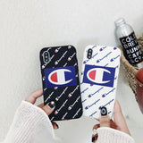 Champion Hypebeast Logo Designed iPhone Case 2 Colors