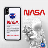 White NASA iPhone Case | The Hype Planet