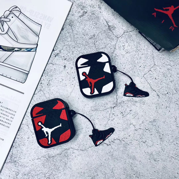 Air Jordan Jumpman Logo AirPods Case w/ Keychain