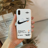 "Off-White x Nike AJ1 ""Air"" 85 iPhone Case for All Sizes"