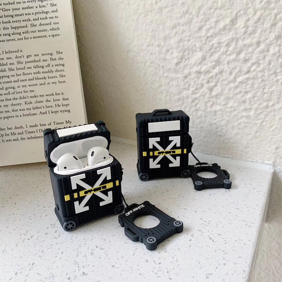 Off-White Suitcase Arrows Trolley AirPods Case