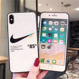 White Nike off white iphone case