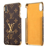 Louis Vuitton Golden Logo Leather iPhone Case