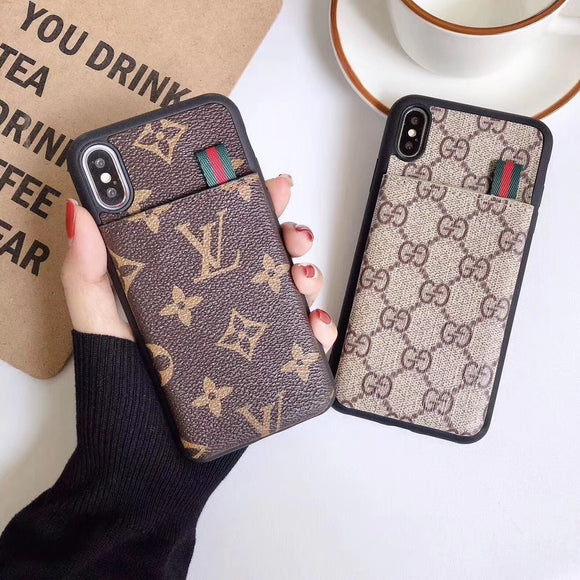 Gucci x Louis Vuitton Card Holder Phone Case