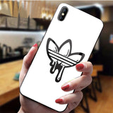 Nike & Adidas Feathered Tempered Glass iPhone Case for All Sizes