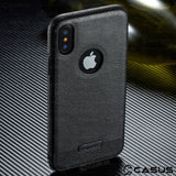 Slim Leather Luxury Pu Leather Back Ultra Thin  Case Cover For iphone X 8 7 Plus 6 6s Case