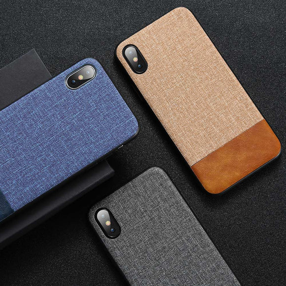 Phone Case For iPhone X 7 8 6 6S Plus PU Leather Cases For iPhone X XS Max XR Soft Edge Cloth Back Cover Fundas Capas