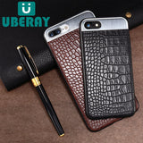 Business Case Simple Film For iPhone Luxury Case Metal Leather Cover