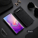 X-Level Leather SAMSUNG Case For Samsung Galaxy S10e S10 Plus Original Soft Silicone Edge Back Phone Case Cover For Samsung S10 S10+