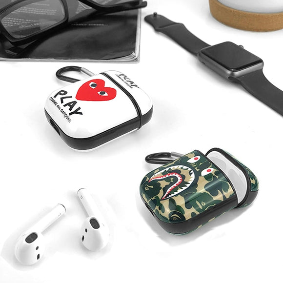 Bape x Commes Des Garcons AirPods Case For Apple AirPods 1 and 2