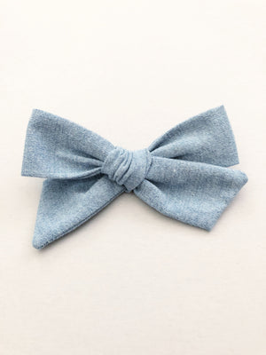 Chambray Jane Bow
