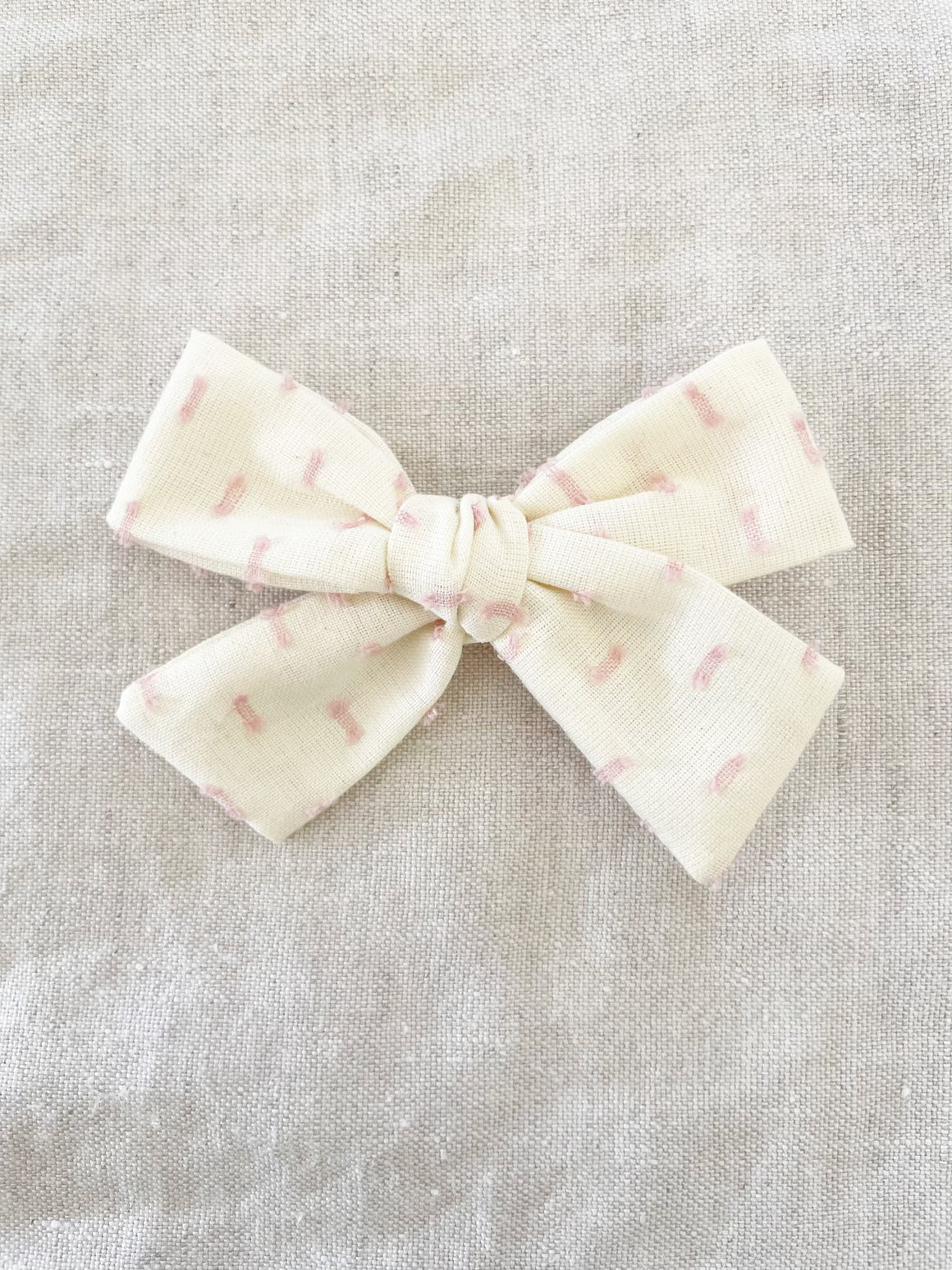 Pink Dotted Jane Bow