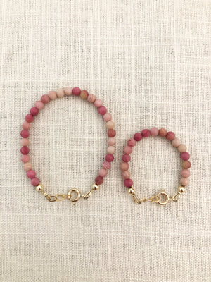 Mommy + Me Rosewood Bracelet Set