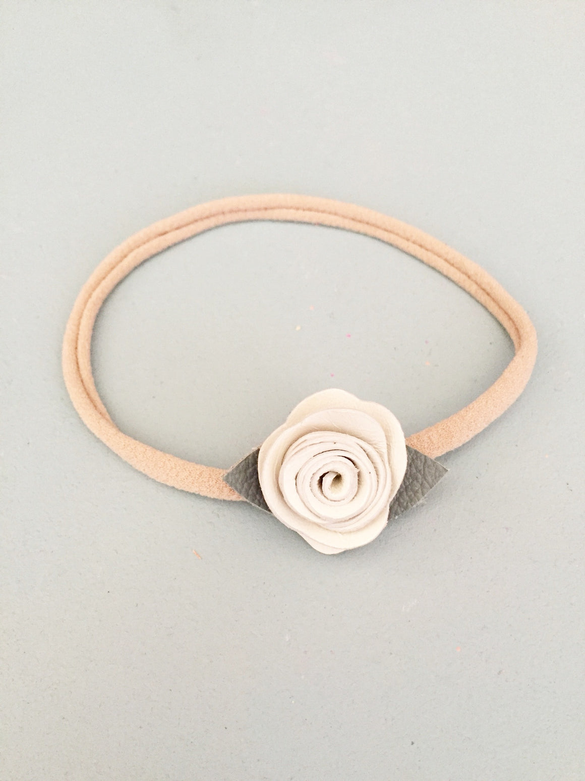 Petite Leather Rose Crown