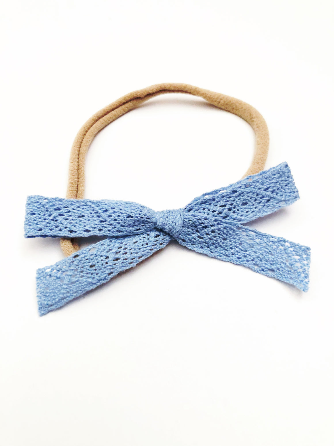 Baby Blue Lace Bow