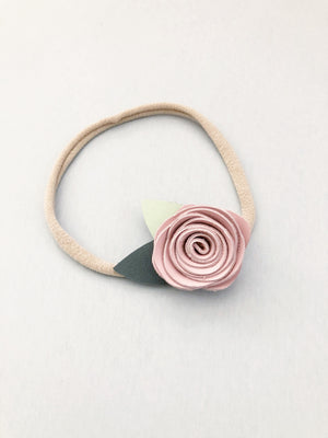 Single Leather Rose Crown