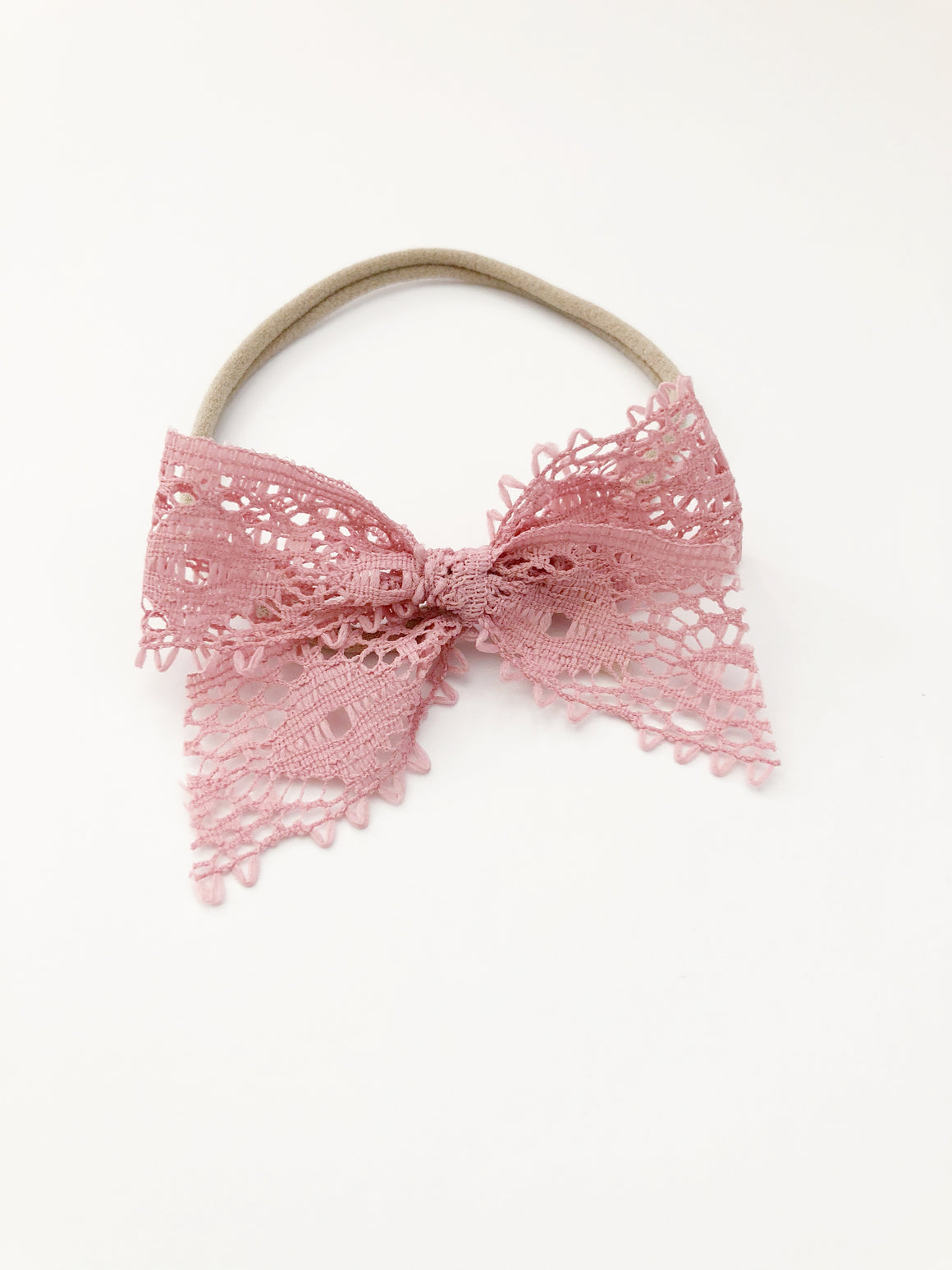 Rose Pink Lace Bow