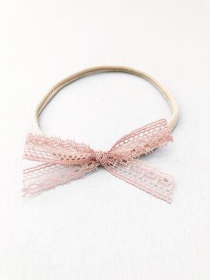 Mauve Lace Bow