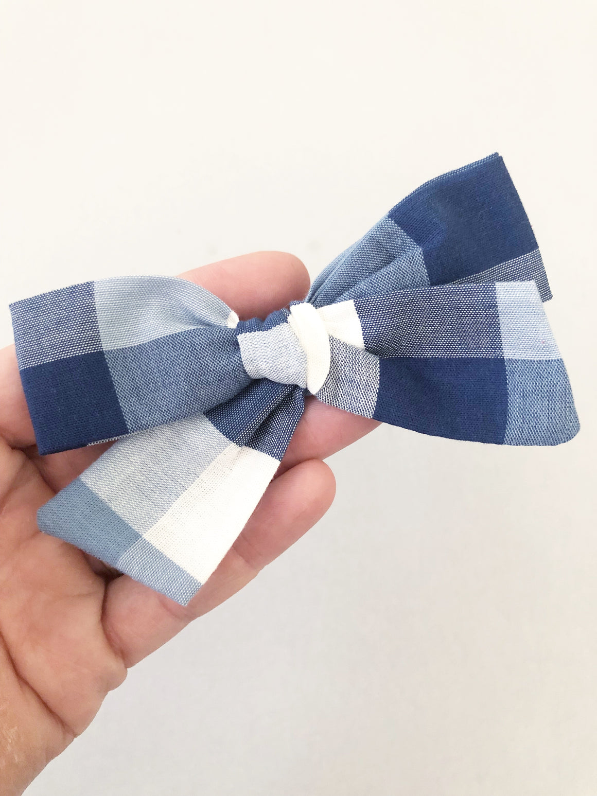 Navy Plaid Jane Bow