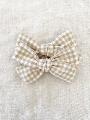Gingham Jane Bow