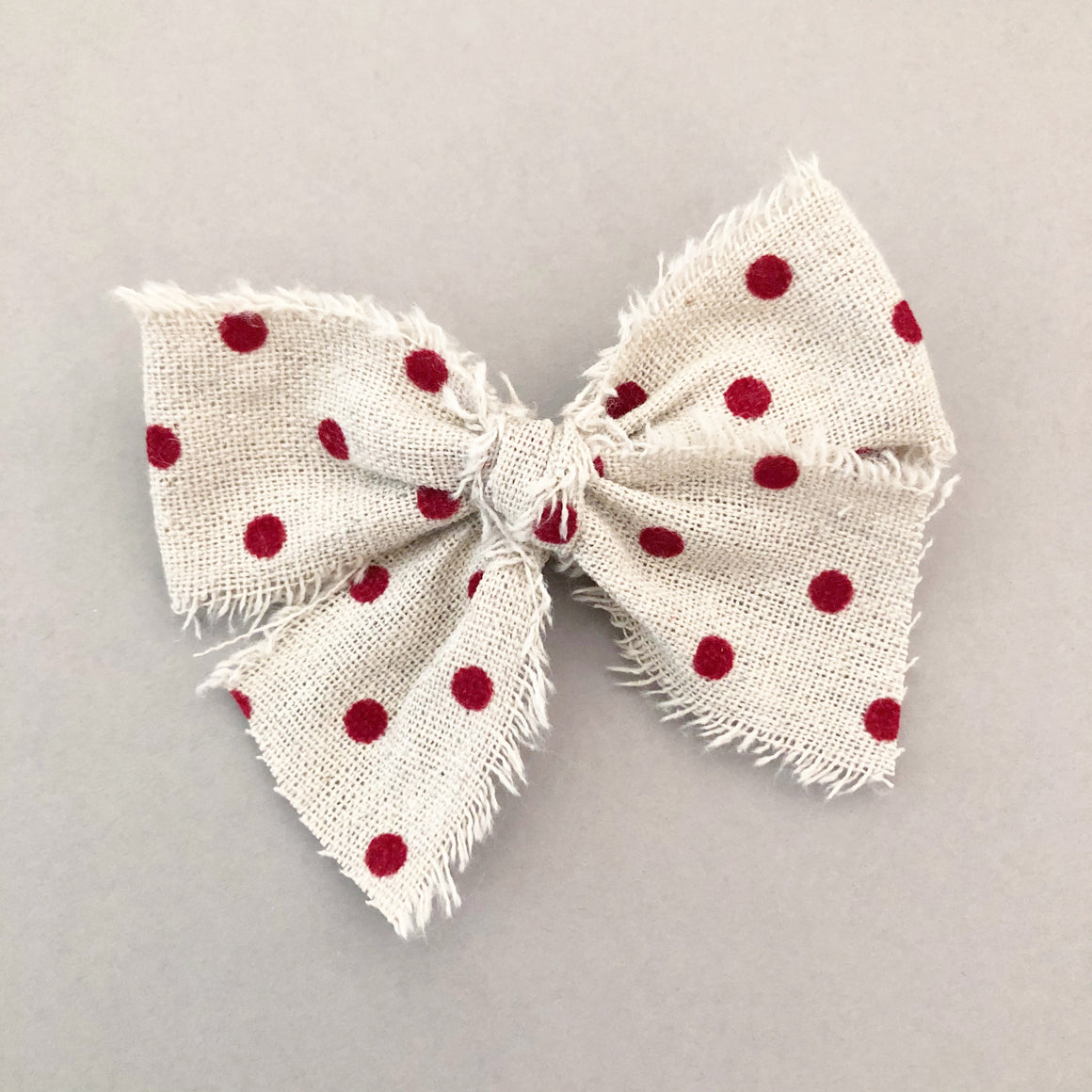Velvet Red Polka Bow