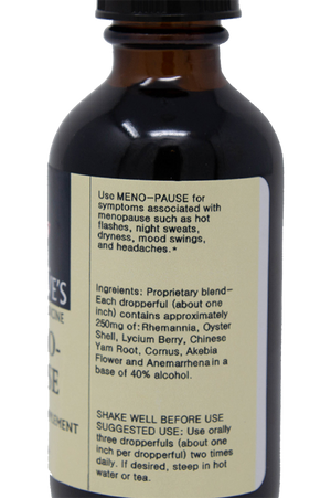 Meno-Pause Ingredients Dr. Dave Herbal Medicine Chinese menopause formula
