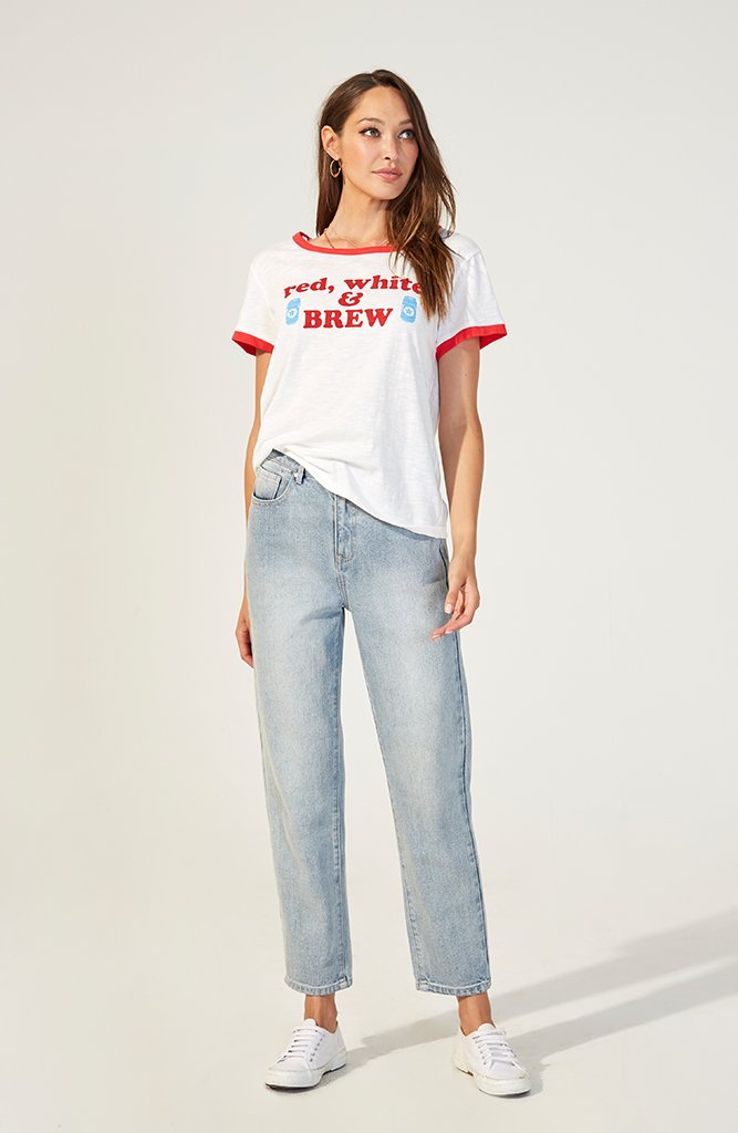 Red, White & Brew Tee