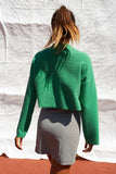 Revive Funnel Neck Top Green