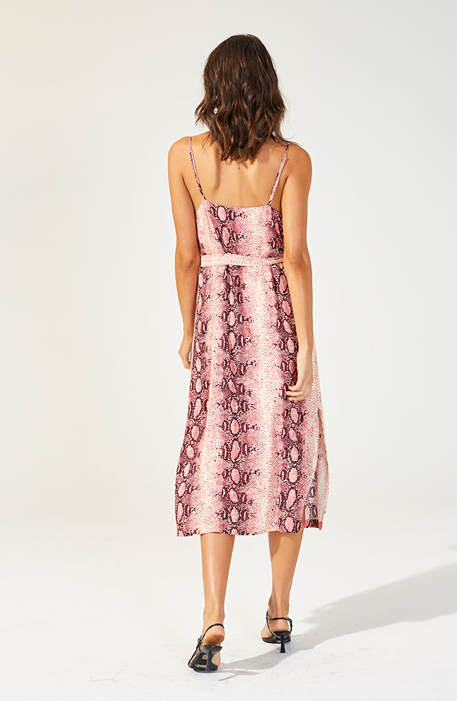 Pink Pyhton Slip Dress