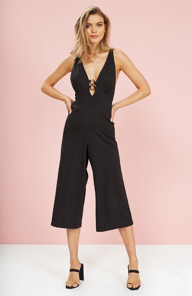 Infinity Plunge Front Jumpsuit