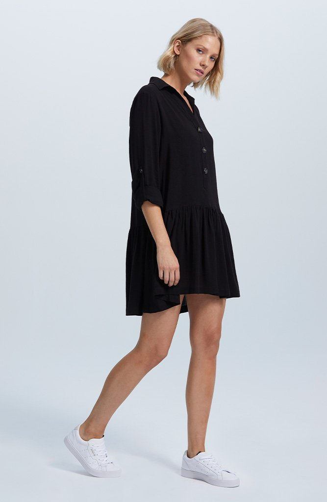 Raven Mini Shirtdress