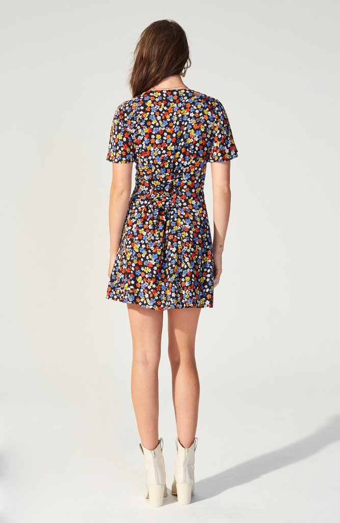 Belle Flower Mini Dress (3682494021725)