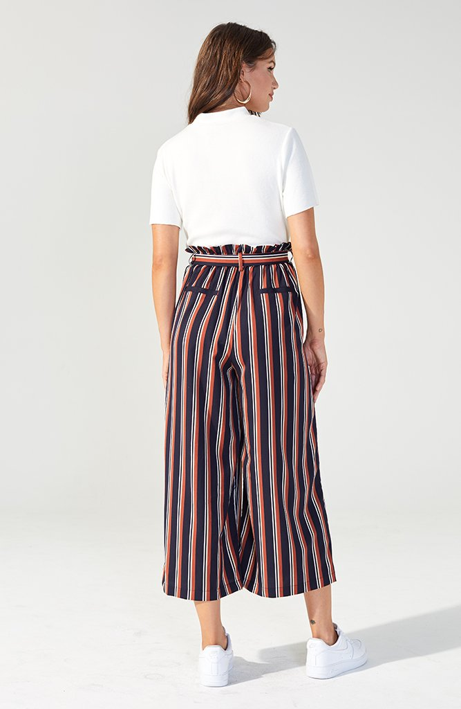 Striped Cropped Trousers (2072815927389)