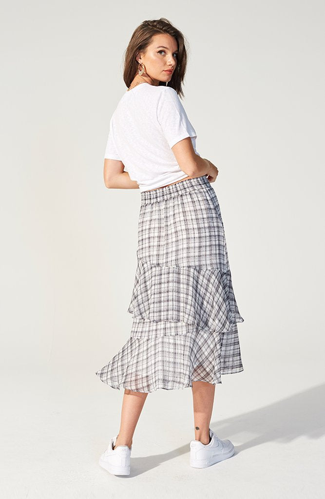 Heroine Check Midi Skirt (3622263259229)