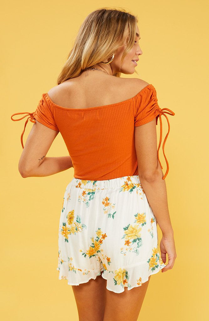Lemon Bloom Frill Shorts