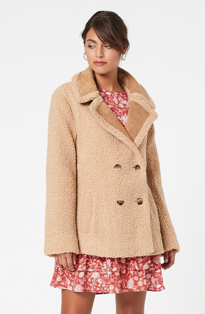 Rylie Mix Teddy Coat