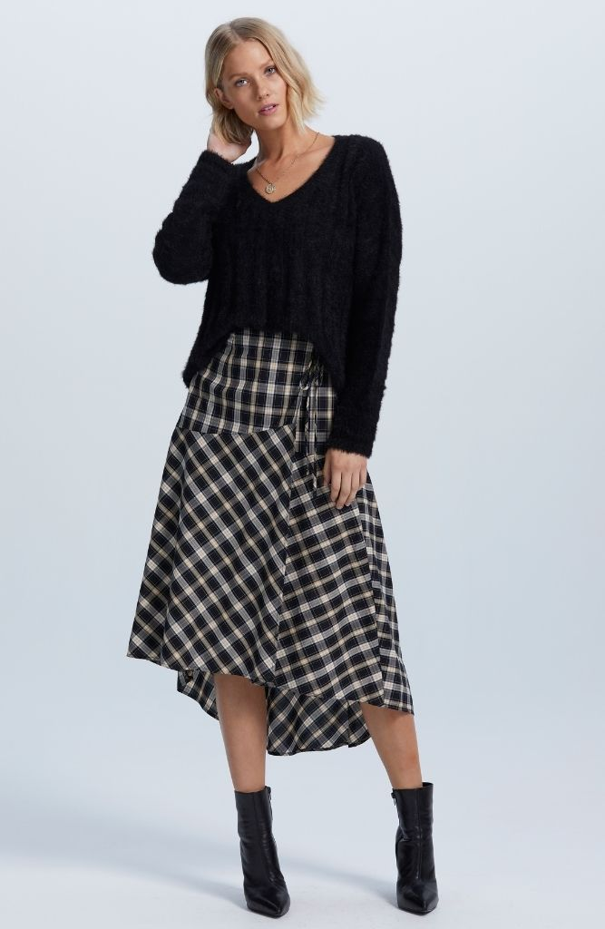 Anita Wrap Midi Skirt