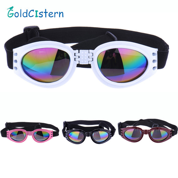 4 Colors  foldable Pet Dog glasses medium Large Dog pet glasses Pet eyewear waterproof Dog Protection Goggles UV Sunglasses