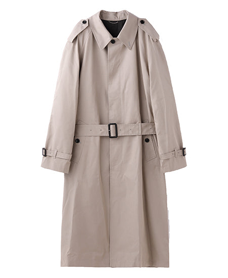 BACK ZIPPED SINGLE TRENCH COAT
