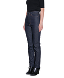 WOMENS RIGID DENIM HIGH-WAIST PANTS / INDIGO