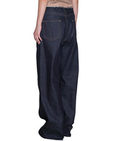WOMENS WIDE DENIM PANTS / INDIGO